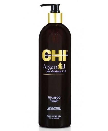 CHI Argan Oil Шампунь масло Аргана и дерева Маринга 355мл