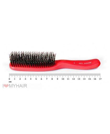 Парикмахерская щетка I LOVE MY HAIR 1503 красная микро