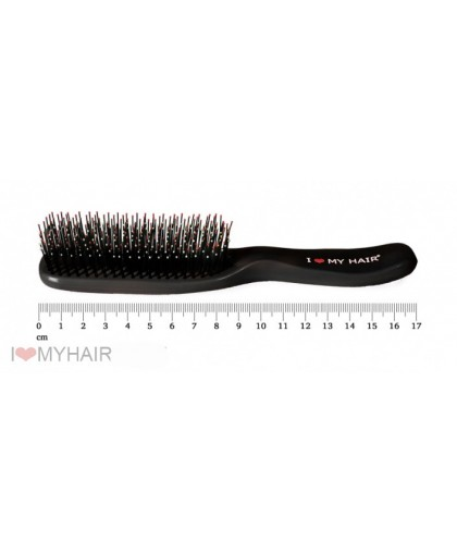 Парикмахерская щетка I LOVE MY HAIR 1503 черная микро