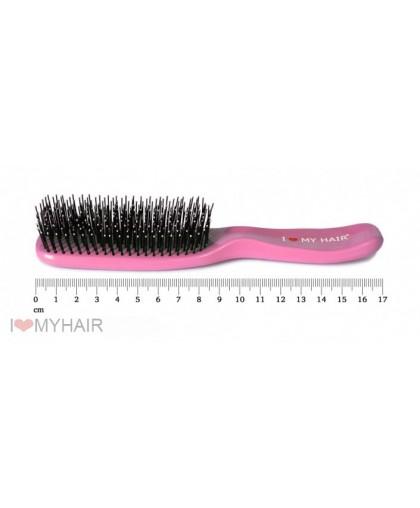 Парикмахерская щетка I LOVE MY HAIR 1503 розовая микро