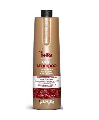 ECHOSLINE Шампунь для вьющихся волос с медом и маслом Аргании (pH 5,5)  SELIAR CURL SHAMPOO  1000мл.
