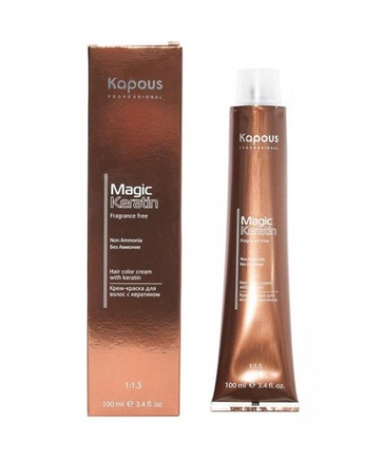 Kapous Fragrance Free Non Ammonia Magic Keratin - Крем-краска для волос 100мл.