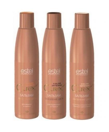 ESTEL  CUREX Color Intense Бальзам «Обновление цвета» для коричневых, медных и теплых оттенков 250мл.