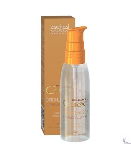 ESTEL  Флюид-блеск с термозащитой для всех типов волос Curex Brilliance, 100 мл.